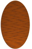 rug #738161 | oval red-orange stripes rug