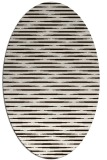 rug #738193 | oval brown stripes rug
