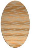 rug #738213 | oval orange stripes rug
