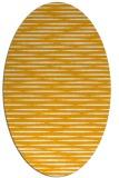 rug #738233 | oval light-orange stripes rug