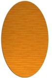rug #738241 | oval light-orange rug