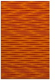 rug #738437 |  red-orange stripes rug