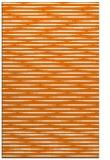 rug #738441 |  orange stripes rug