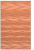 rug #738445 |  orange stripes rug