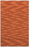 rug #738449 |  red-orange stripes rug