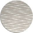 rug #738601 | round white stripes rug