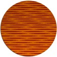 rug #738789 | round orange stripes rug