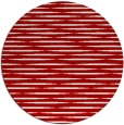 rug #738841 | round red stripes rug