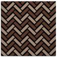 rug #739321 | square brown retro rug
