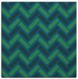 rug #739385 | square blue retro rug