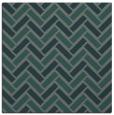 rug #739433 | square green retro rug