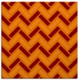 rug #739493 | square orange retro rug
