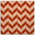 rug #739501 | square orange retro rug