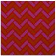 rug #739557 | square red retro rug