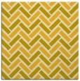 rug #739593 | square yellow retro rug