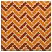 rug #739621 | square orange retro rug