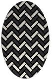 rug #739661 | oval black retro rug