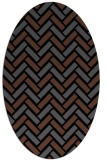 rug #739665 | oval black retro rug