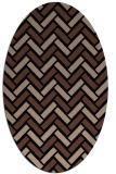 rug #739673 | oval black rug