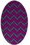 rug #739685 | oval pink retro rug