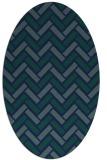 rug #739689   oval blue retro rug