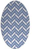 rug #739697 | oval blue retro rug