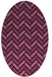 rug #739749 | oval pink retro rug