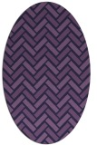 rug #739753   oval purple retro rug