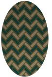 rug #739777   oval mid-brown retro rug
