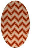 rug #739853 | oval orange retro rug