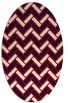 rug #739897   oval red retro rug