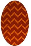 rug #739901 | oval orange rug
