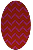 rug #739909   oval red retro rug