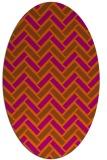 rug #739922 | oval retro rug