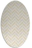 rug #739941 | oval white rug