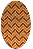 rug #739973 | oval orange retro rug