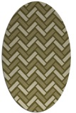 rug #739989 | oval light-green rug