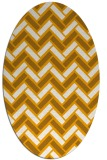 rug #739993 | oval light-orange retro rug