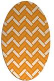 rug #740001 | oval light-orange popular rug