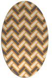 rug #740005 | oval white retro rug
