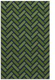 rug #740045 |  green retro rug