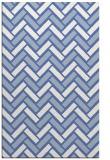 rug #740049    blue retro rug