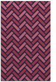 rug #740101 |  blue-violet retro rug