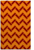 rug #740197 |  red-orange retro rug