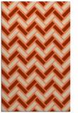 rug #740205 |  orange retro rug