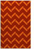rug #740253 |  red retro rug