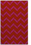 rug #740261 |  red retro rug