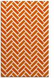 rug #740277 |  red-orange retro rug
