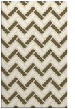 rug #740301 |  yellow retro rug