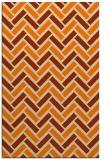 rug #740325 |  orange retro rug